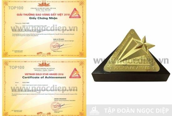 Tập đoàn Ngọc Diệp đạt top 100 Sao vàng đất Việt 2018